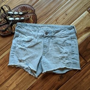 American Eagle MIDI cut off shorts